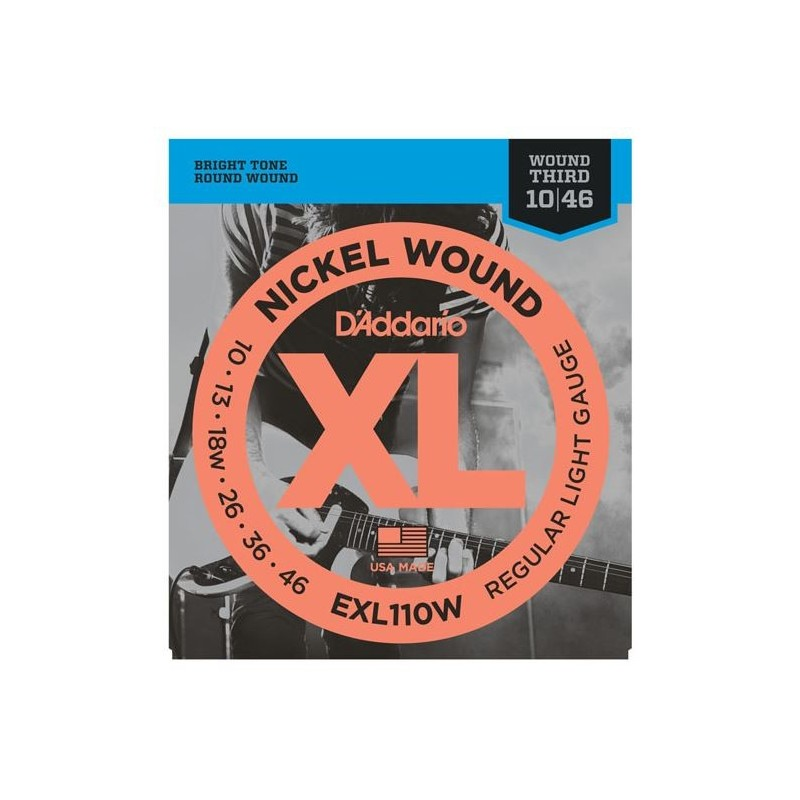 EXL110W Regular Light, Wound 3rd, 10-46