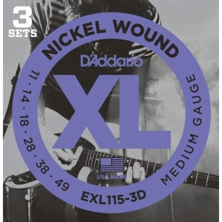 D'Addario EXL115-3D