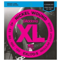 EXL170-5 5-String Bass, Light, 45-130, Long Scale