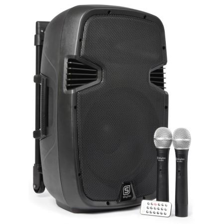 """Vonyx SPJ-PA912 Portable Sound System 12"""" 2 UHF BT"""