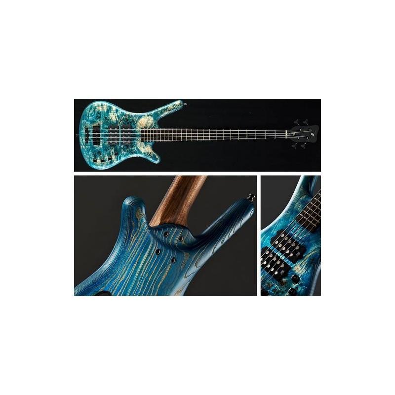 Electric Bass Warwick Corvette $$ 4 Stone Bleached Blue SE