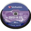 DVD+R Verbatim 8.5GB 8X 10-pack Double Layer, Spindel
