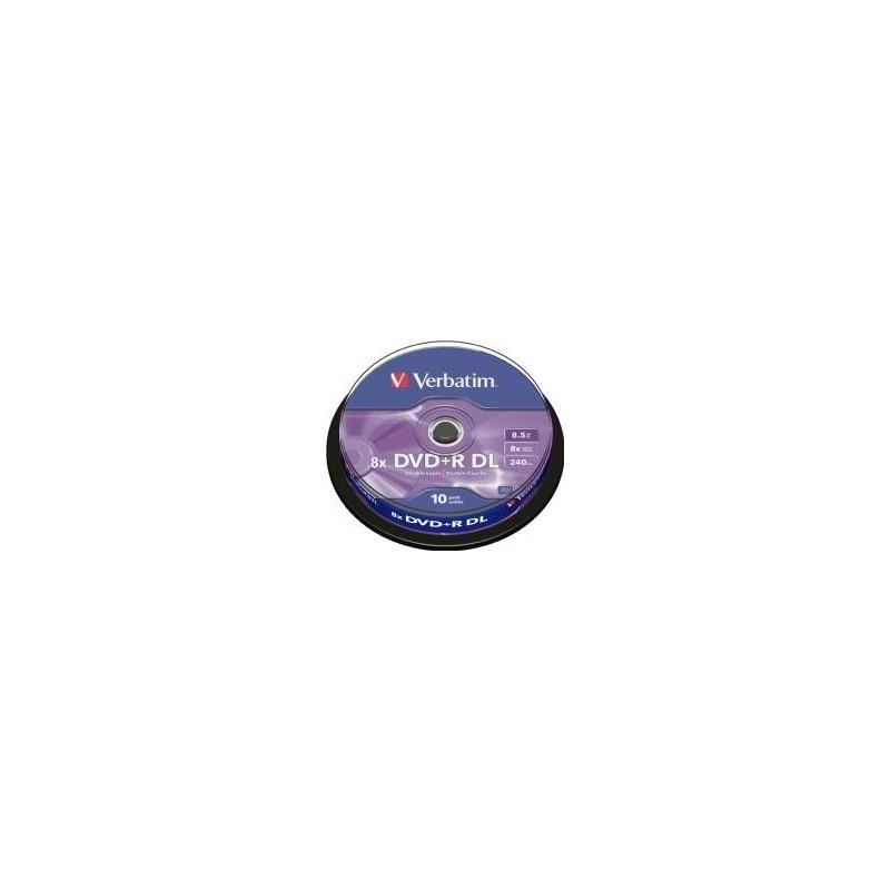 DVD+R Verbatim 8.5GB 8X 10-pack Double Layer, Spindel