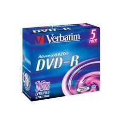 DVD-R Verbatim 4.7GB 5p Jewel Case, 16X