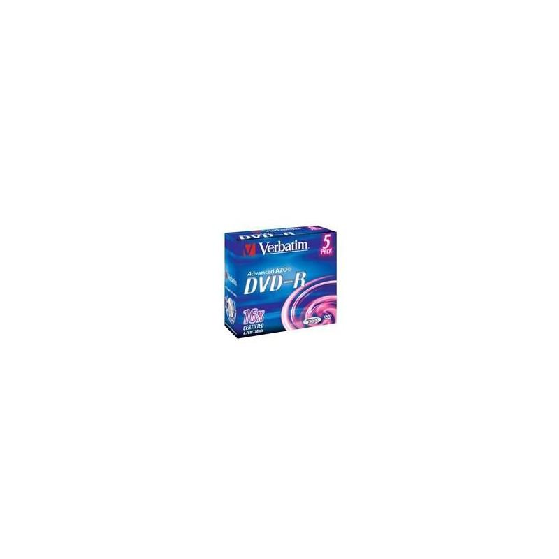 DVD-R Verbatim 4.7GB 5p Jewel Case, 16X