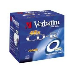 CD-R Verbatim 52x 10p P. 80m/700MB, JC, Printable