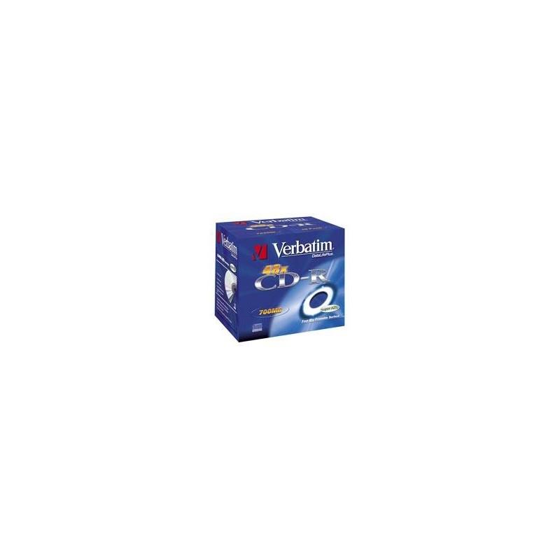CD-R Verbatim 52x 10p P. 80m/700MB, JC, Printable