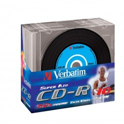 CD-R Verbatim 52x 10p 80min./700 MB, Vinyl, Slim Case