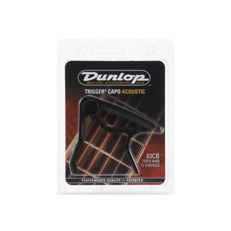 Dunlop triggercapo black curved