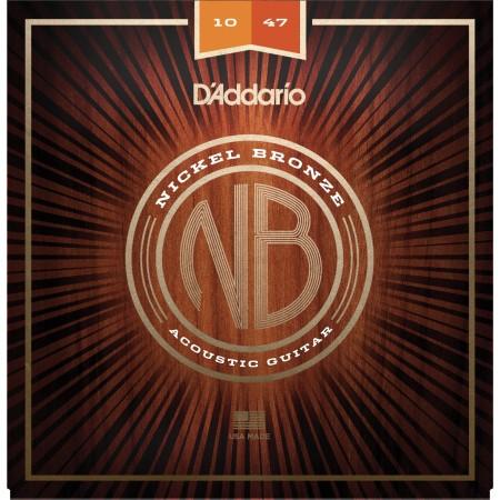 NB1047. Nickel Bronze Western Set 010-047, Extra Light.