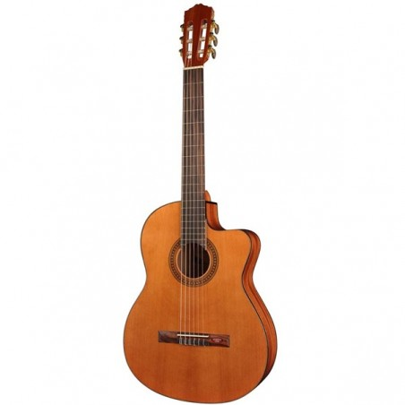 Klassisk gitarr Salvador Cortez CC-10CE Student Natural