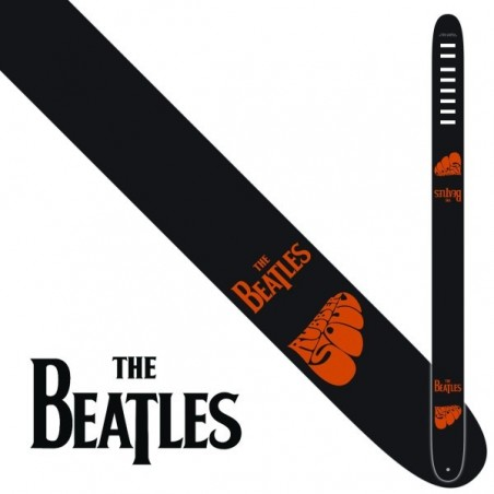 """Perri's P25-TB-6078   2.5"""" The Beatles Leather Strap - Rubber Soul"""