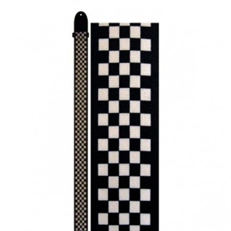 "Perri's LPCP-591 | 2"" Polyester Strap - White/Black Checker"