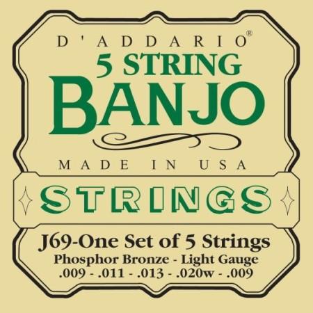 D'Addario EJ69 Light 5-string Banjo