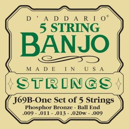 D'Addario EJ69B Light 5-string Banjo Ball End