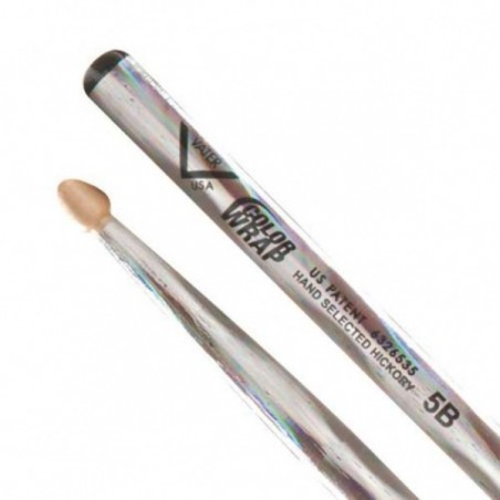 Vater Color Wrap 5B Silver Optic Wood Tip