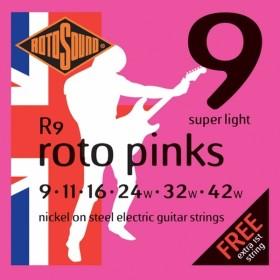 Rotosound R9 Roto Pinks - Super Light 9-42
