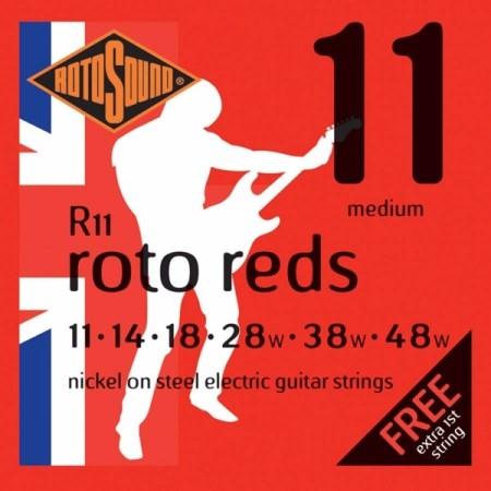 Rotosound R11 Roto Reds - Medium 11-48