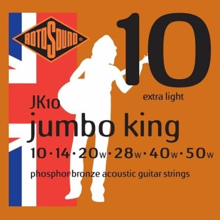 Rotosound JK10 Jumbo King Acoustic - Extra Light