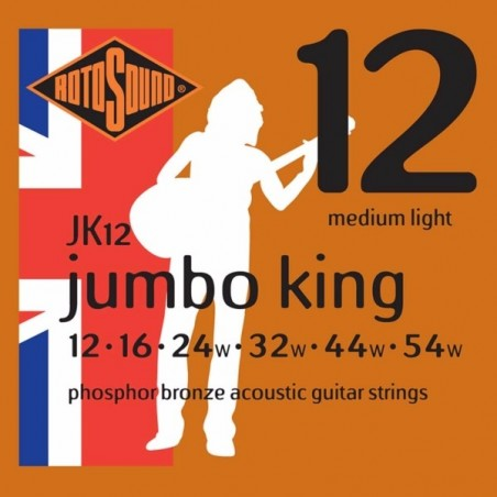 Rotosound JK12 Jumbo King Acoustic - Medium Light