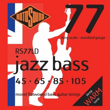 Rotosound RS77LD Jazz Bass Flat Wound - Std 45-105