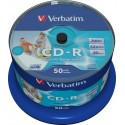 Verbatim CD-R, 52x, 700MB/80min, 50-pack, spindel, AZO, printable
