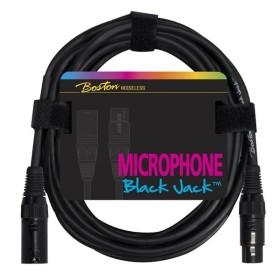 Boston Black Jack Mikrofonkabel XLR (f) – XLR (m) 2m