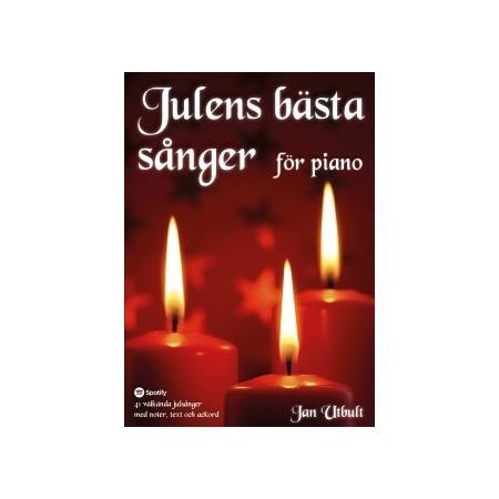 Julens bästa sånger för piano (spiralbunden)