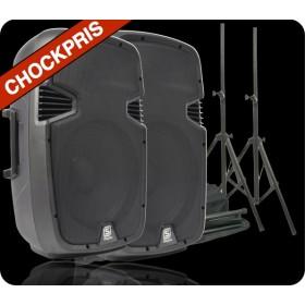 Vonyx 2x SPJ-1500A + Speakerstand kit