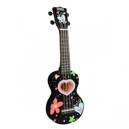 Mahalo Art Series Heart Ukulele Black inkl. bag