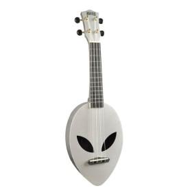 Mahalo Alien Ukulele Metallic Silver inkl. bag