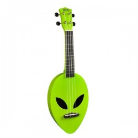 Mahalo Alien Ukulele Neon Green inkl. bag