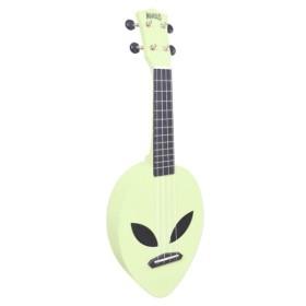 Mahalo Alien Ukulele Glow Green inkl. bag