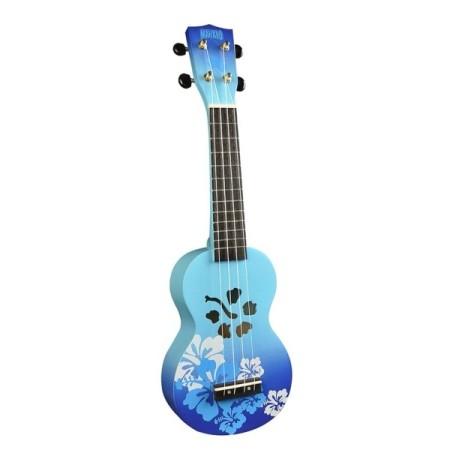 Mahalo Hibiscus Ukulele Blue Burst inkl. bag