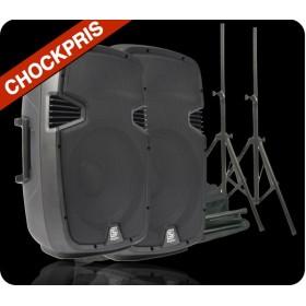 Vonyx 2x SPJ-1200A + Speakerstand kit