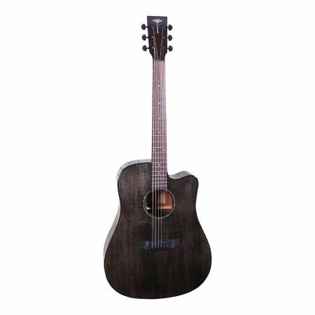 Acoustic Guitar Tyma D-3CE BKS