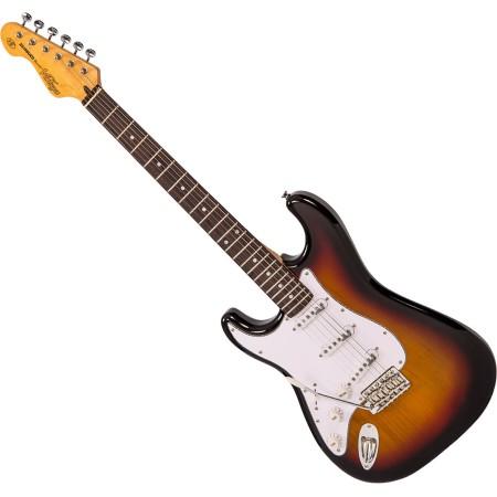 Electric Guitar Vintage V6 Reissued - Left Hand Sunset Sunburst